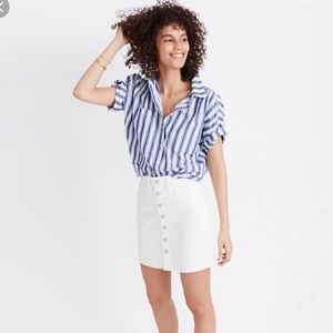 Madewell White Mini Skirt